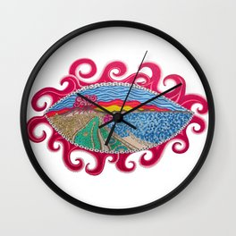 in your eye the vesuvius Wall Clock
