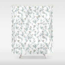 Indian Floral soft Shower Curtain