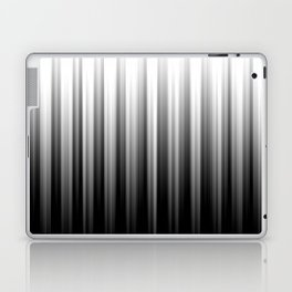 Black And White Soft Blurred Vertical Lines - Ombre Abstract Blurred Design Laptop & iPad Skin