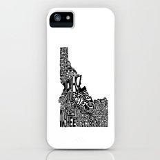 Typographic Idaho Slim Case iPhone (5, 5s)