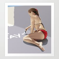 pool Art Prints featuring Pool by David Luscombe