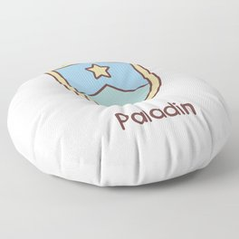 Cute Dungeons and Dragons Paladin class Floor Pillow