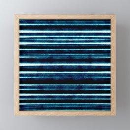 Pattern Lignes Bleu Profond Framed Mini Art Print