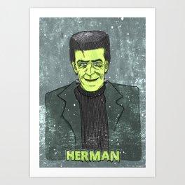 Herman Munster Art Print