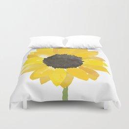 Watercolor Sunflower Duvet Cover