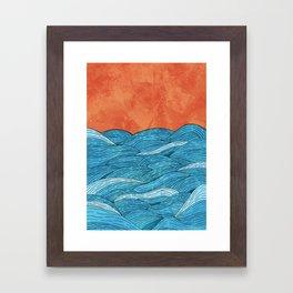 The Blue Sea Framed Art Print