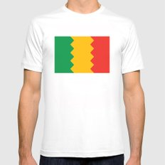 Los Angeles  city flag united states of america California MEDIUM White Mens Fitted Tee