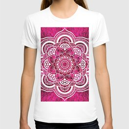 Mandala Hot Pink Colorburst T-shirt