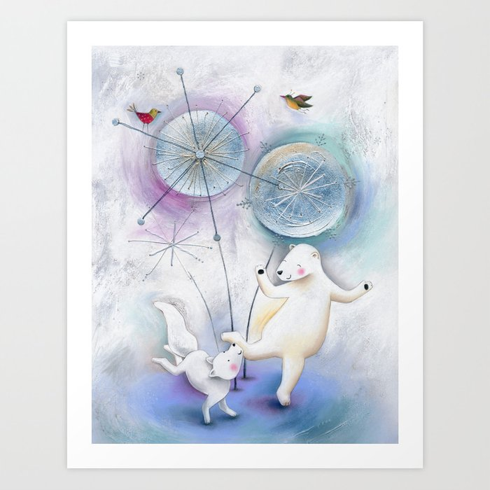 Winter Solstice Dance Art Print