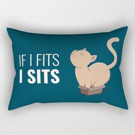 If I Fits I Sits Rectangular Pillow
