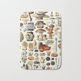 Adolphe Millot - Champignons A - French vintage poster Bath Mat