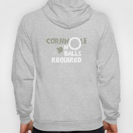 Cornhole No Balls Required Funny Game Distressed T-Shirts Hoody