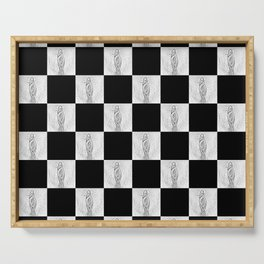 Checkerboard Pussy Serving Tray