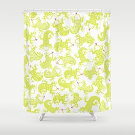 Lizards love highlighters Shower Curtain