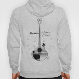 The acoustic guitar - Music, The Frontier of Dreams. Hoody