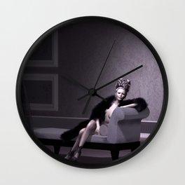 Beautiful courtesan in her lavender salon Wall Clock