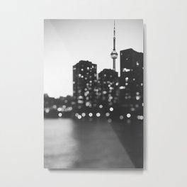 Toronto At Night Metal Print