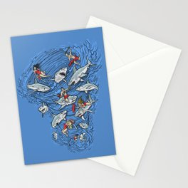 Malibu Beach Sharnado Massacre  Stationery Cards