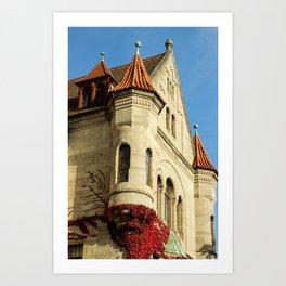 Oriel tower at the Castle Art Print