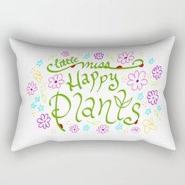 Little Miss Happy Plants Rectangular Pillow