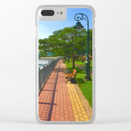 Saigon By The River Garden Clear iPhone Case