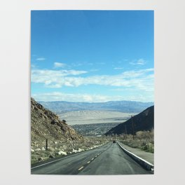 Mountain Road in Palm Springs California Poster