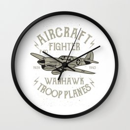 Aircraft Fighter Warhawk Troop Planes Wall Clock