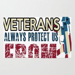 AMERICAN VETERANS ALWAYS PROTECT US FROM ENEMIES Rug