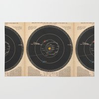 solar system Area & Throw Rugs featuring Solar System by Le petit Archiviste