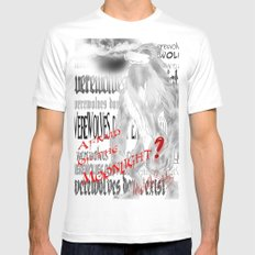 Werewolves don´t exist White MEDIUM Mens Fitted Tee