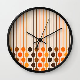 Golden Sixlet Wall Clock