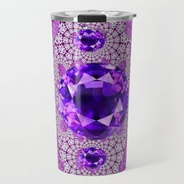 Amethyst Purple Gems February Birthstones Travel Mug