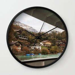 switzerland boat cruise Wall Clock