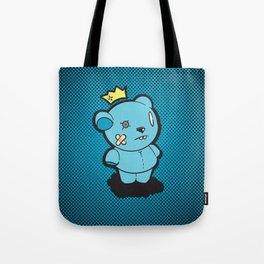 Blue Dead Bear Tote Bag