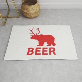 Bear + Deer = Beer Rug