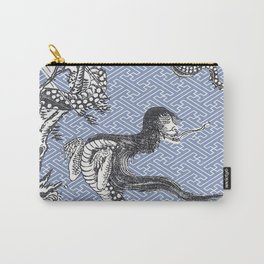 Yokai - NureOnna - SnakeLady by Sekien with Sayagata Background Carry-All Pouch