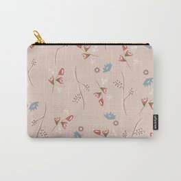 Delicate Floral Pattern Carry-All Pouch