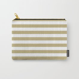 Horizontal Stripes (Sand/White) Carry-All Pouch
