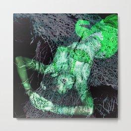 Oriental beautie - green Metal Print