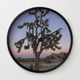 Joshua Tree Sunset Wall Clock
