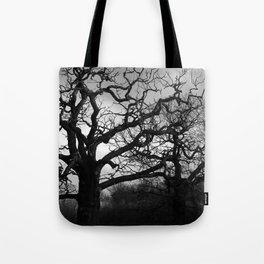 Eerie winter trees Tote Bag