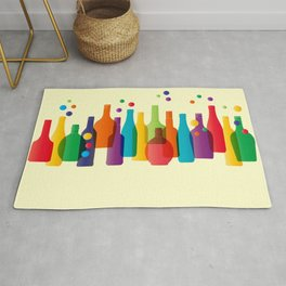 Colored bottles Rug