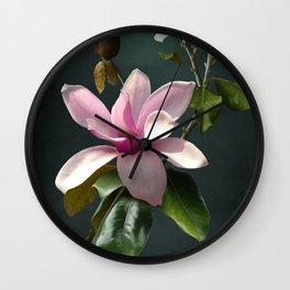 Spade's Pink Magnolias Wall Clock