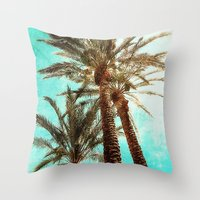 palms Throw Pillows featuring Palms by Elliott's Location Photography