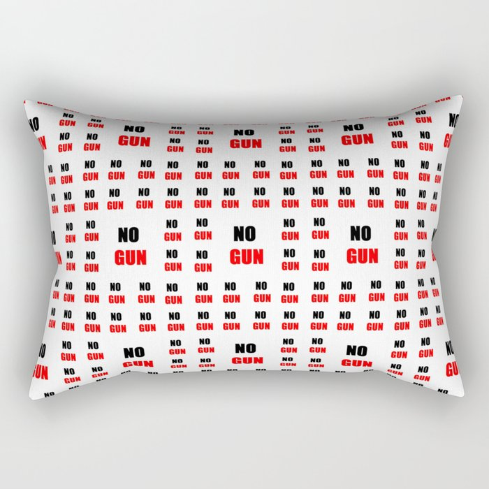 no gun 2– rebel, wild,prohibition,peace,nra,pacifism,weapon. Rectangular Pillow