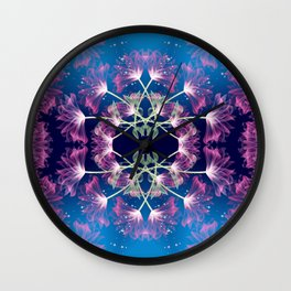 Flower Mandala v.3 Wall Clock