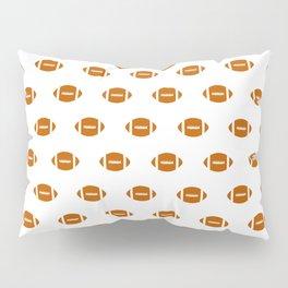 Texas longhorns orange and white university college texan football pattern Pillow Sham