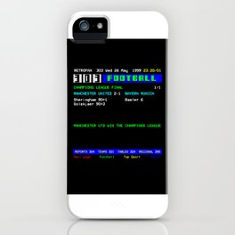 1999 Champions League Final Man United iPhone Case