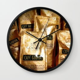 Godiva Chocolate Coffee Lovers Wall Clock