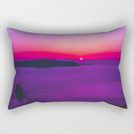 purple sunset in Fira Santorini Rectangular Pillow